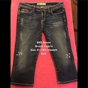 BKE Brand Reese Denim Capris—Size 31–19in inseam